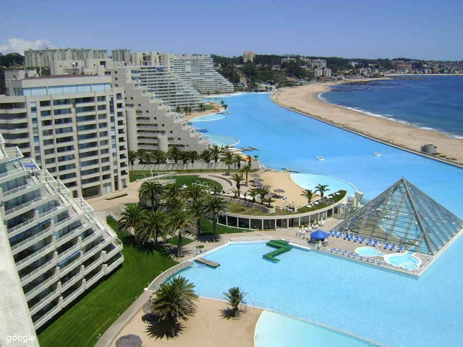 A maior piscina do mundo conhe a san alfonso del mar for Piscina u de chile